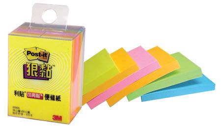 3M 2056S小尺寸標籤便條紙(四色)