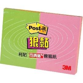 3M 621S-2小尺寸標籤便條紙(綠.粉紅)
