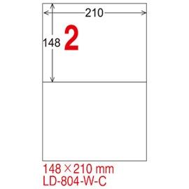龍德電腦標籤紙LD-804-W-C