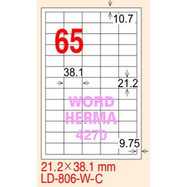 龍德電腦標籤紙LD-806-W-C