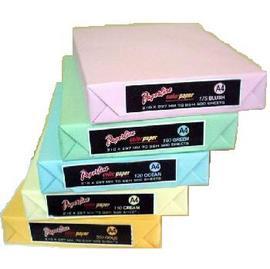 彩色影印紙  70磅 A4 (淺粉紅/粉紅/淺黃/淺綠/淺藍/金黃 )